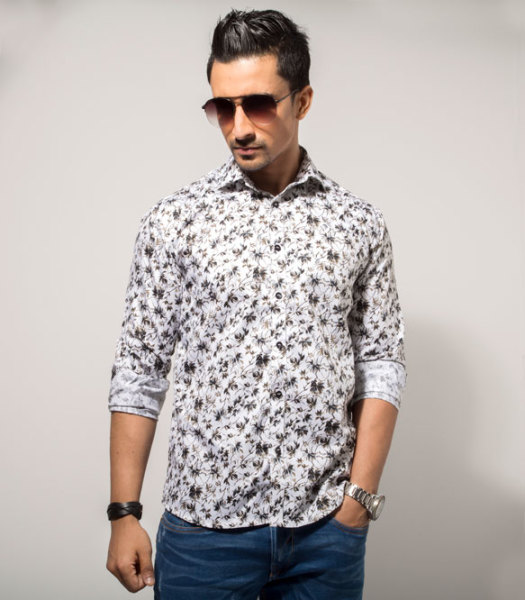 Mens 100% Cotton Casual Shirt Style #C001